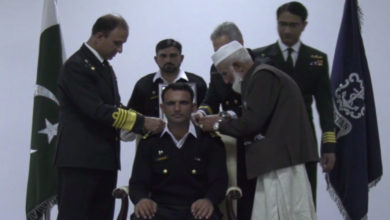 Fakhr Zaman was conferred the honorary rank of Lieutenant in the Pakistan Navy