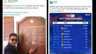 Pakistan jump to No 5 on ICC Test Team Rankings