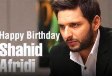 Shahid Afridi celebrates 44th birthday today.