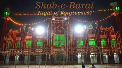 Shab-e-Barat was observed with great spirit in Pak yesterday
