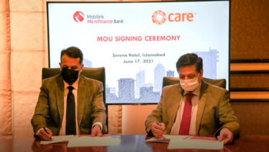 Mobilink Microfinance Bank, CARE International Pakistan sign MoU to Strengthen Entrepreneurial and Financial Ecosystem