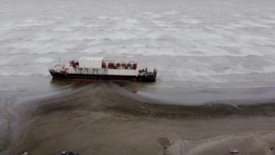Stranded Ship refloats after 7 weeks