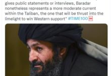 Taliban's Mullah Abdul Ghani Baradar added in Time's 100 most influential people