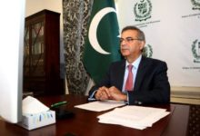 Pakistan High Commissioner to the UK, Moazzam Ahmad Khan addressing at the annual Commonwealth Foreign Affairs Ministers meeting held virtually on 16-09-2021